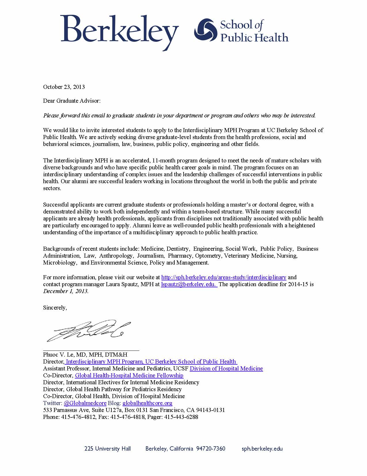 uc berkeley acceptance letter interdisciplinary mph program uc berkeley school of 50072