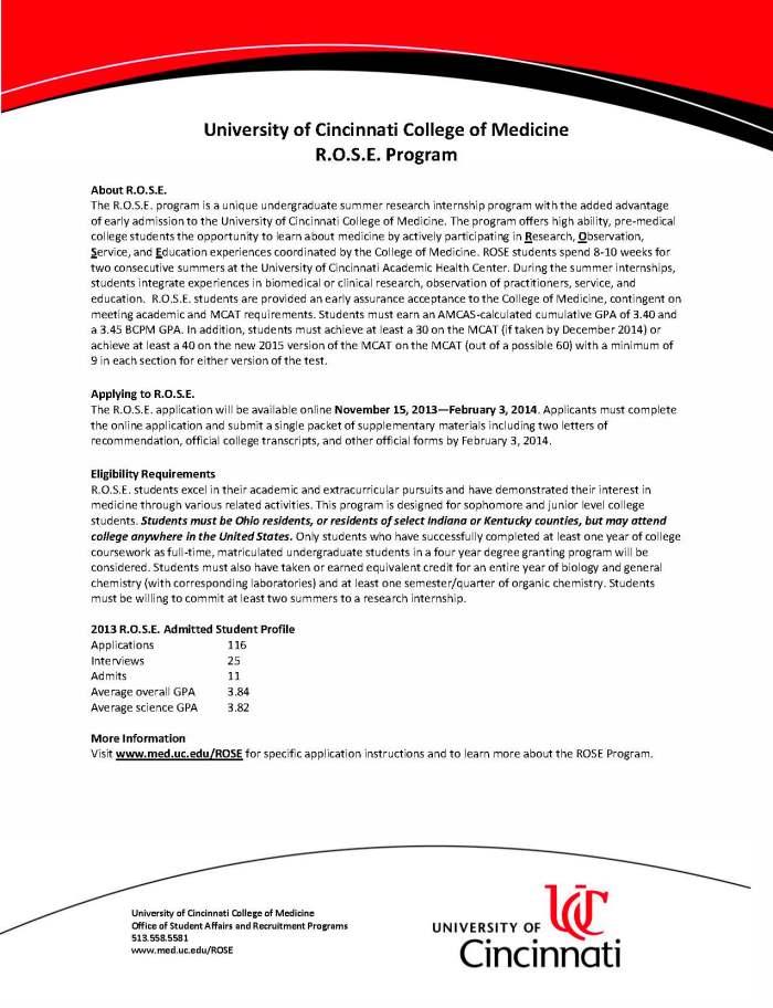 R.O.S.E. 2013 Class Profile