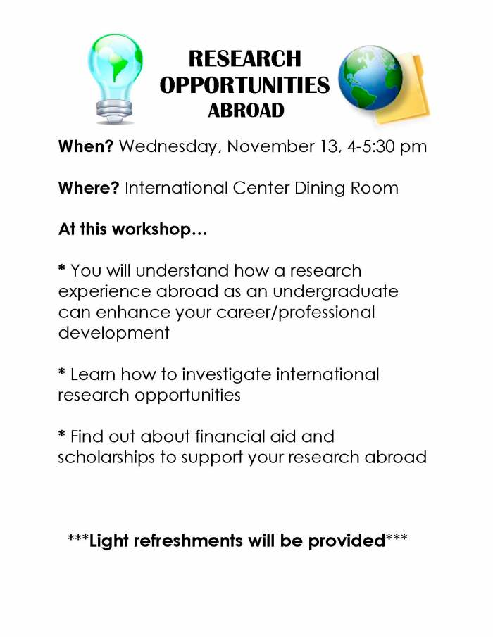 Research Opportunities Abroad