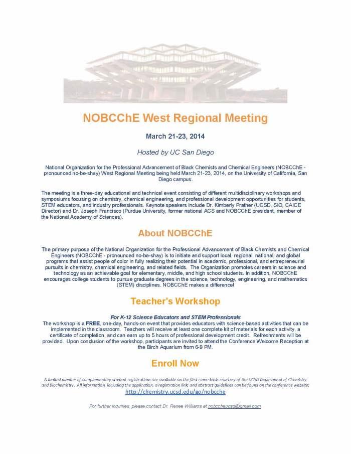 NOBCChE West Regional Meeting