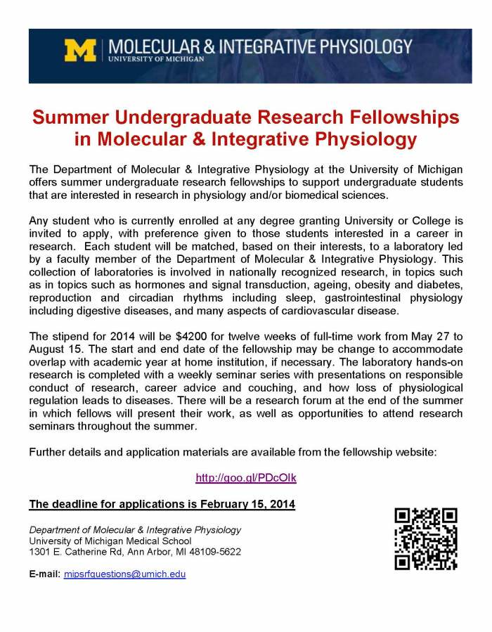 Summer Fellowships-2014