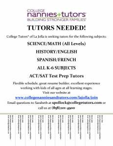 College Tutors Job Flyer - La Jolla