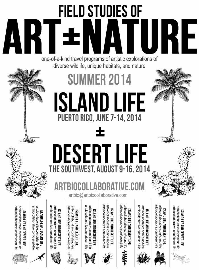 ISLAND LIFE and DESERT LIFE- Summer 2014-artbio flyer