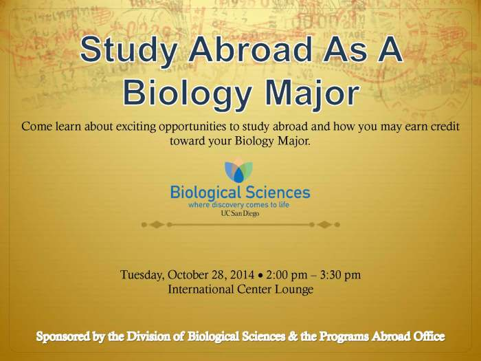 Study Abroad As A Biology Major Blog Slide