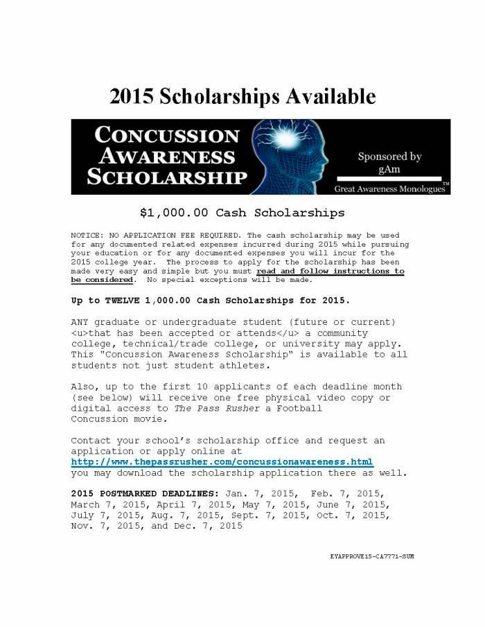 Concussion Awareness Scholarship