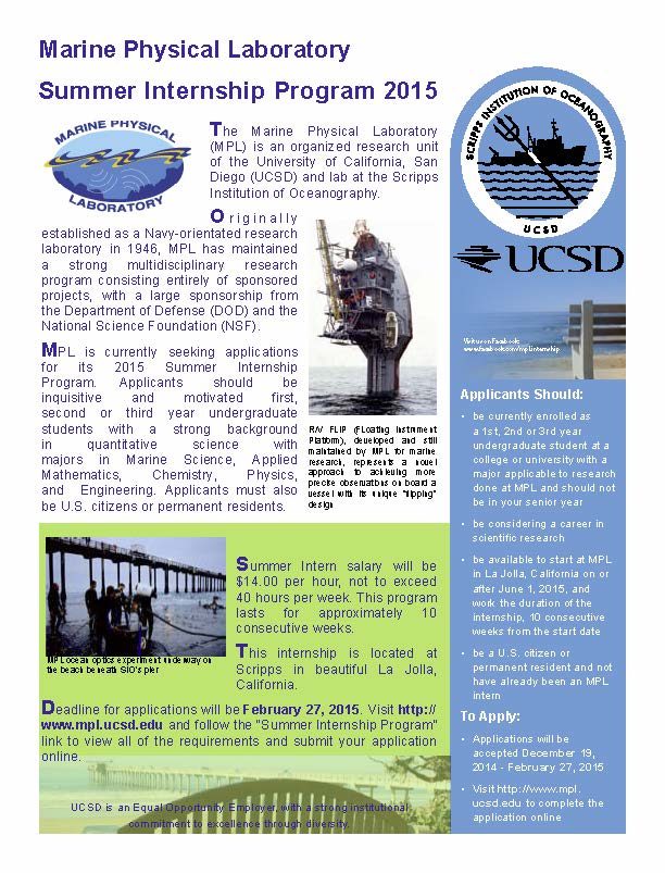 flyer mpl summer internship 2015