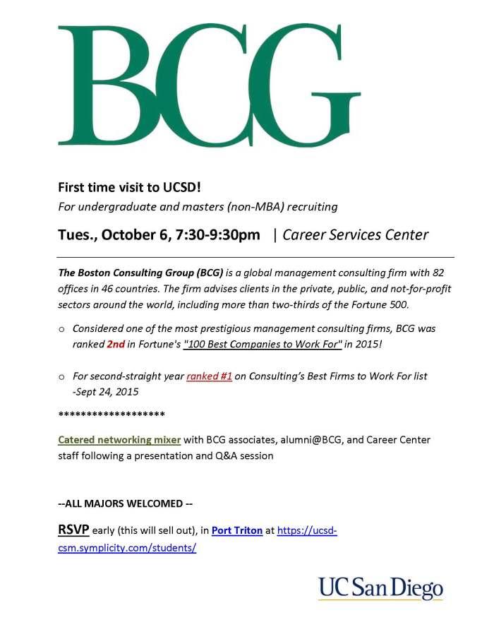 BCG recruiting visit