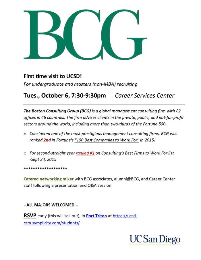 Boston Consulting Group Campus Recruitment Uc San