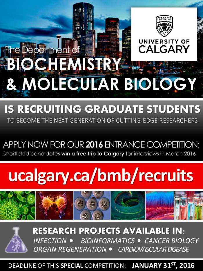 2016 University of Calgary BMB Program Recruitment Campaign