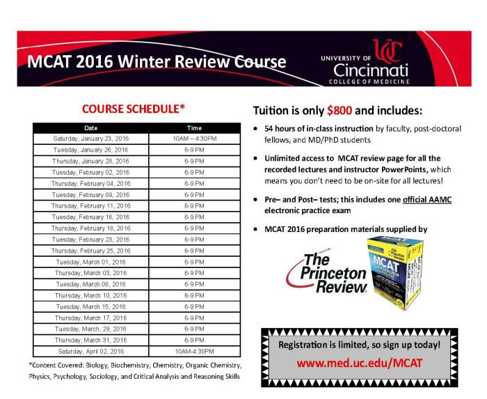 MCAT 2016 Winter Ad