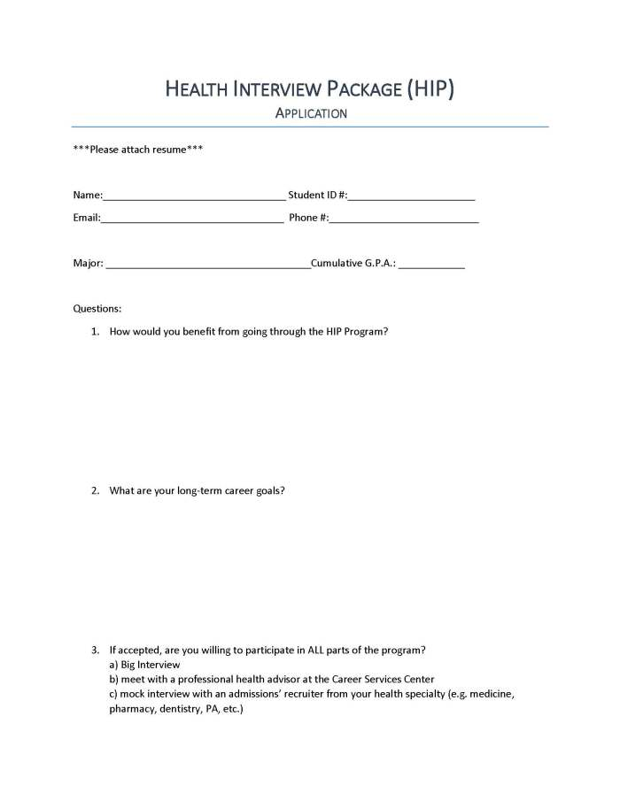 Health Interview Package application_Page_1