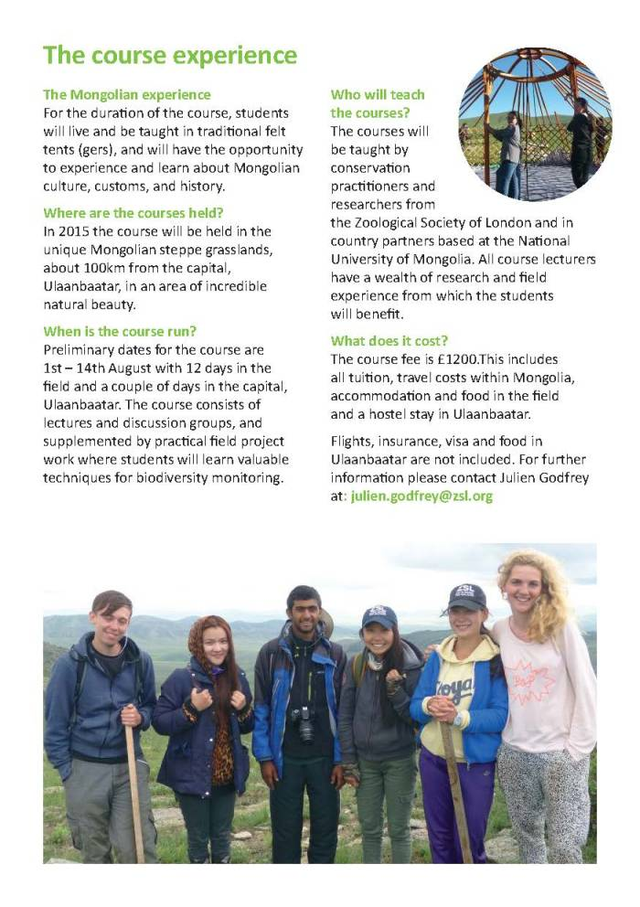 ZSL Mongolia Summer Field Course 2016 brochure_Page_4