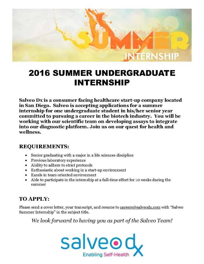 Summer internship 2016