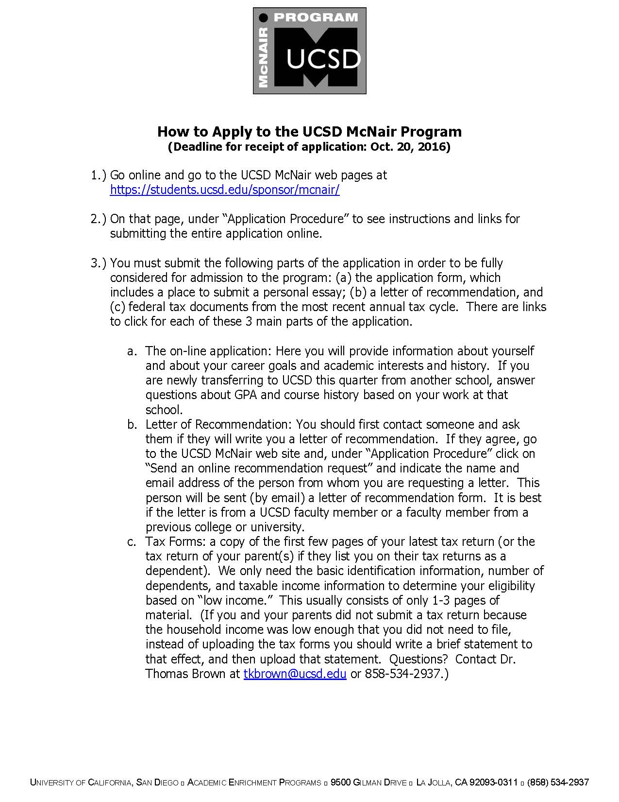 how to apply to the ucsd mcnair program_page_1 – UC San Diego