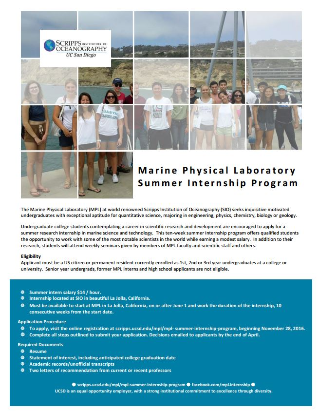 summer internships for college students