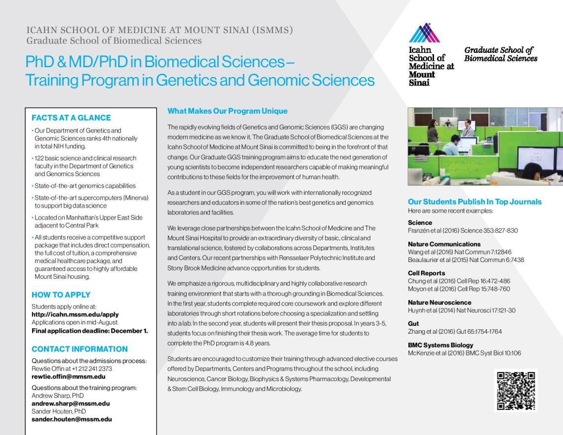 PhD & MD/PhD in Biomedical Sciences | ICAHN School of