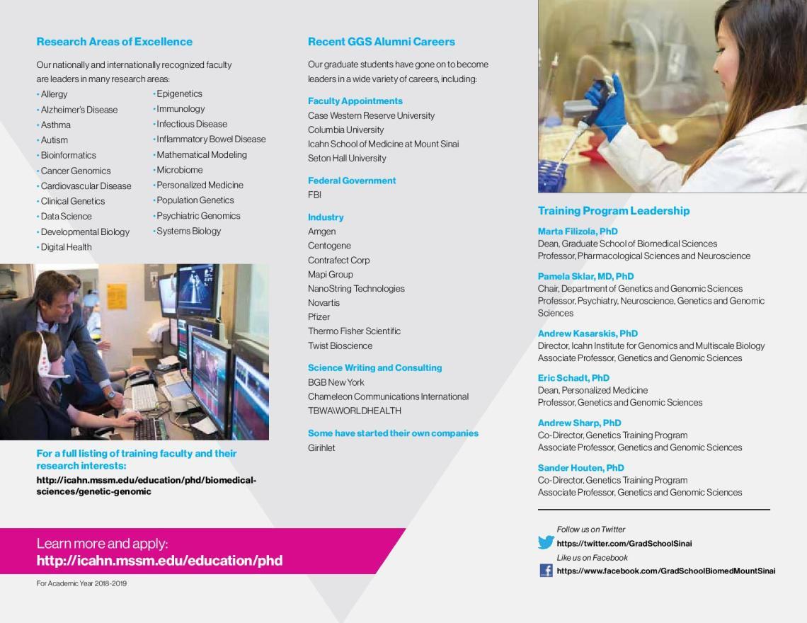 PhD & MD/PhD in Biomedical Sciences   ICAHN School of