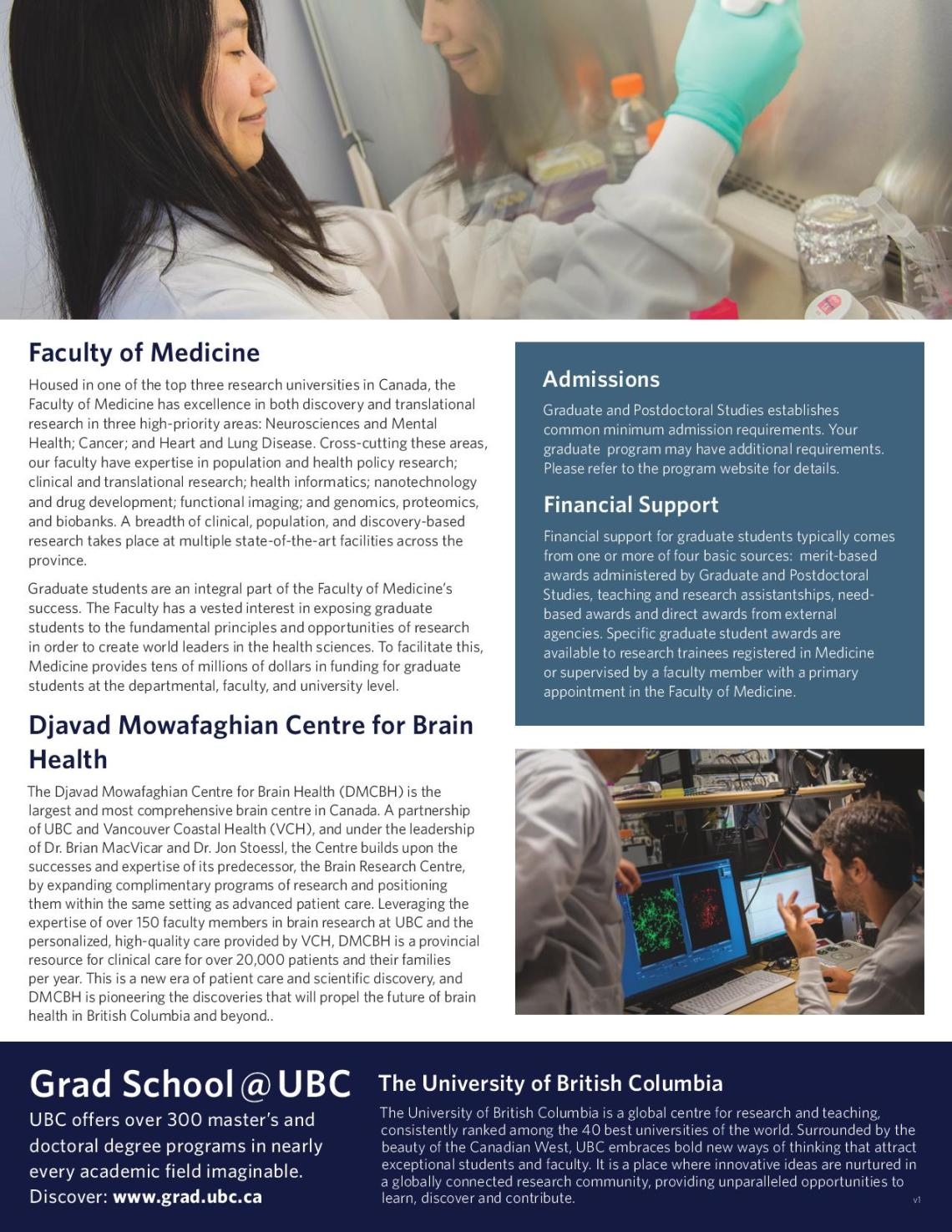 Connect with the Graduate Neuroscience Program at University