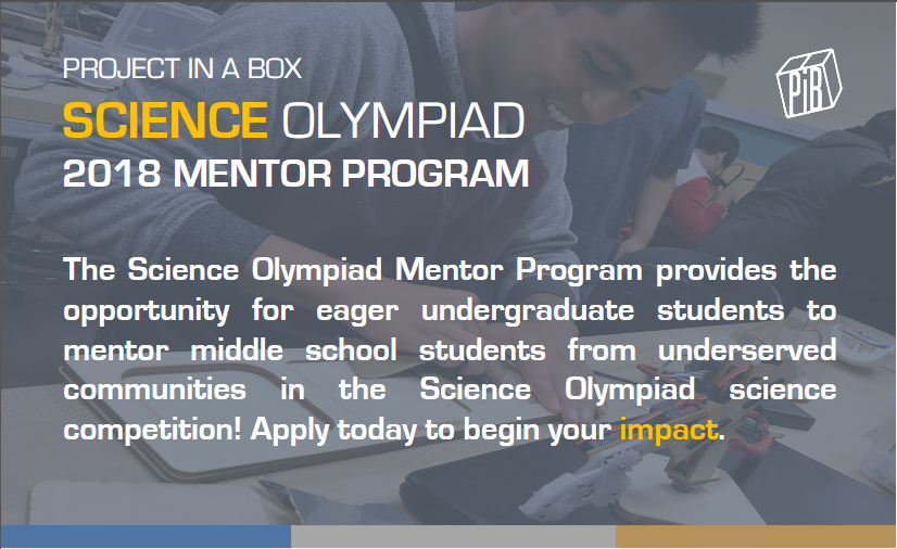 Science Olympiad 2018 Mentor Program | Earn UCSD Course Credit – UC